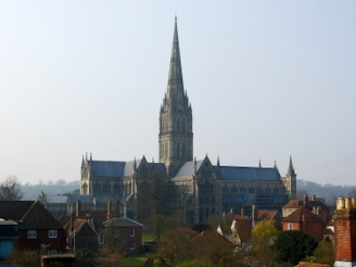 Salisbury Cathedral dominates the city skyline